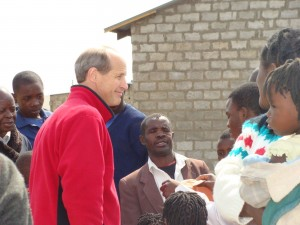 Ross before a Church service in Zambia