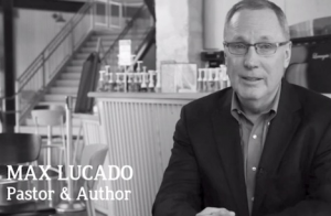 Max Lucado in the #WelcomeTheStranger video